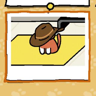Inari wears a hat