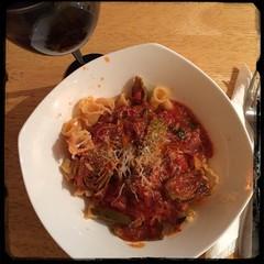 #homemade Sun-dried Tomato & Artichoke Sauce w/ gigli pasta #CucinaDelloZio