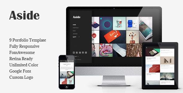 ThemeForest Aside v1.0 - Photo Portfolio Sidebar HTML Theme
