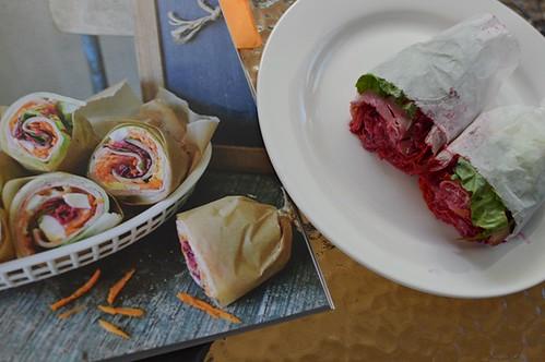 Ham, egg and mayo lettuce wraps