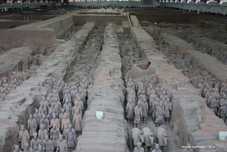 Overview of the Terracotta Warriors - Terracotta Warrior Museum Xi'An Shaanxi China