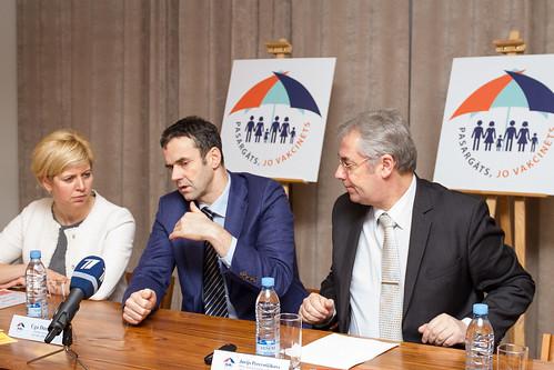 Preses konference par kampaņu «Pasargāts, jo vakcinēts!»