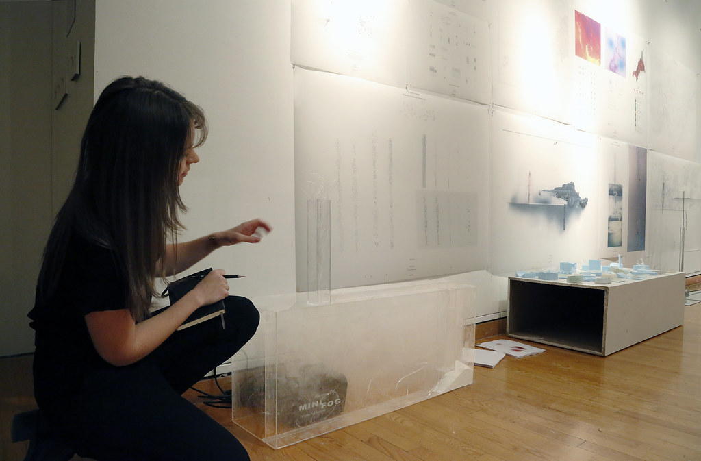 Lauren Lochry presenting her M.Arch. thesis project titled <em>To Catch a Cloud.</em>