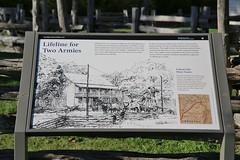 0U1A4106 Pea Ridge NMP - Interpretive sign - Lifeline for Two Armies