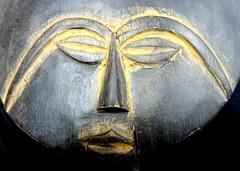 Tête de sculpture africaine