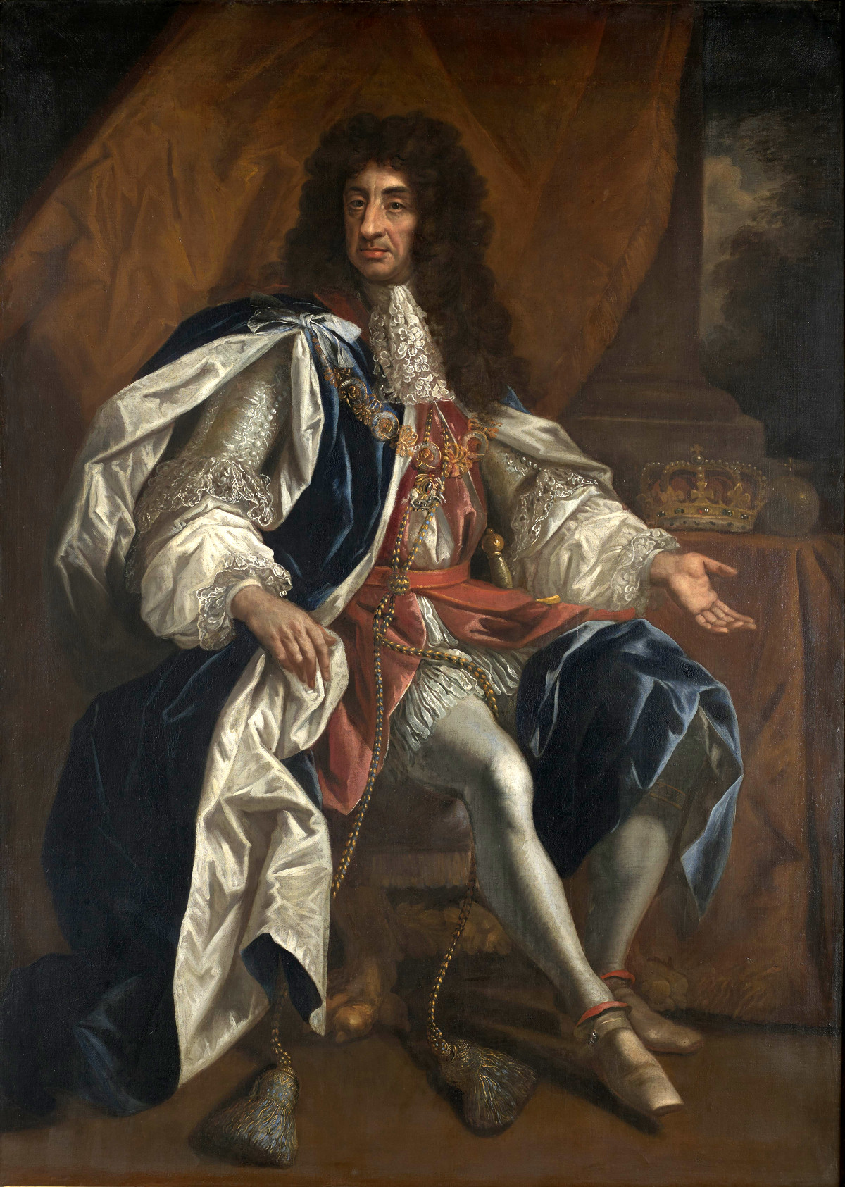 Portrait of King Charles II of England, Scotland and Ireland by Thomas Hawker, 1660