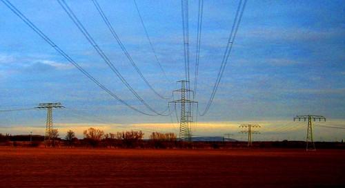 unter der 220 kV Leitung Wolkramshausen- Vieselbach