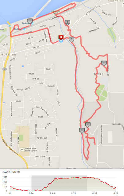 """Today""""s awesome walk, 6.22 miles in 2:17, 13,382 steps, 553ft gain"""