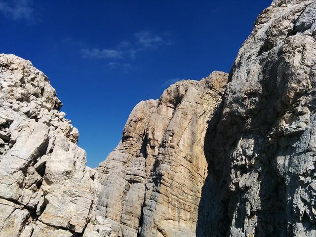 Blick auf den ersten La Varella-Gipfel