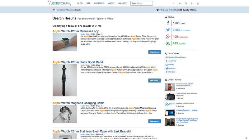 lesterchan.net - Algolia Search - Search Page