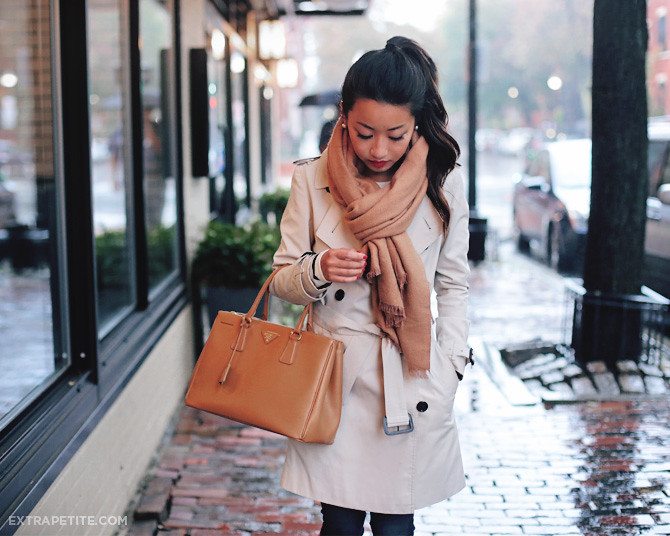 rainy day outfit burberry trench coat