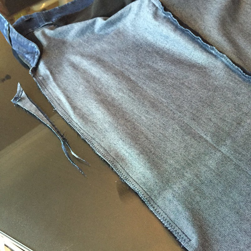 Denim Pencil Skirt - In Progress