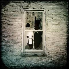 Through the broken glass