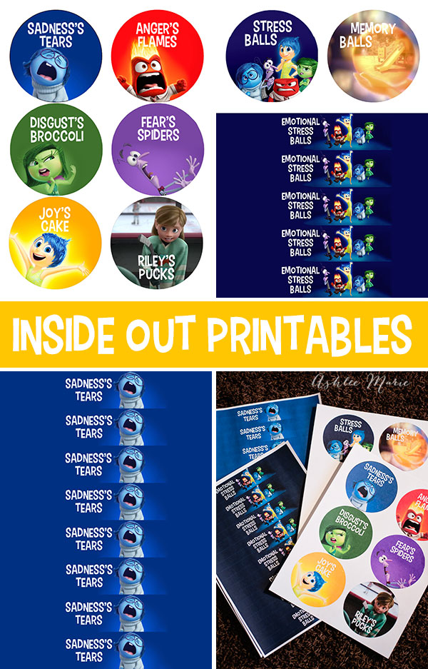 free inside out food and party printables