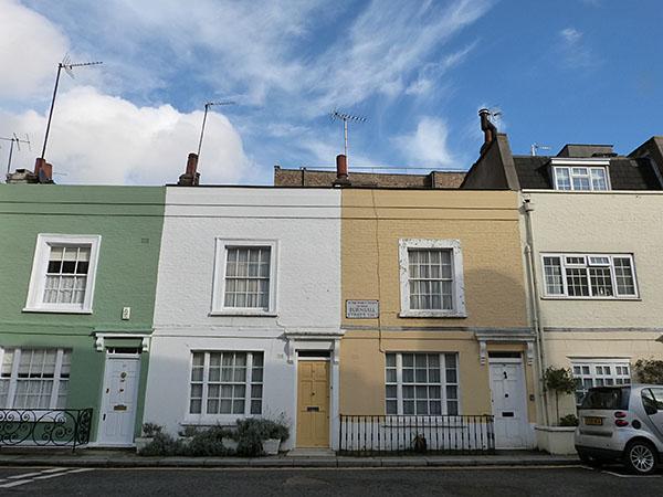 maisons colorées chelsea