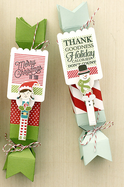Papertrey Ink's Favor It Box 8 and Holiday Pin Ups