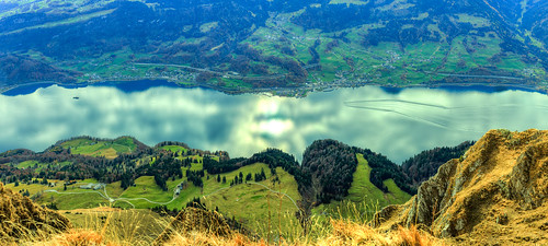 panorama schweiz switzerland hdr walensee churfirsten