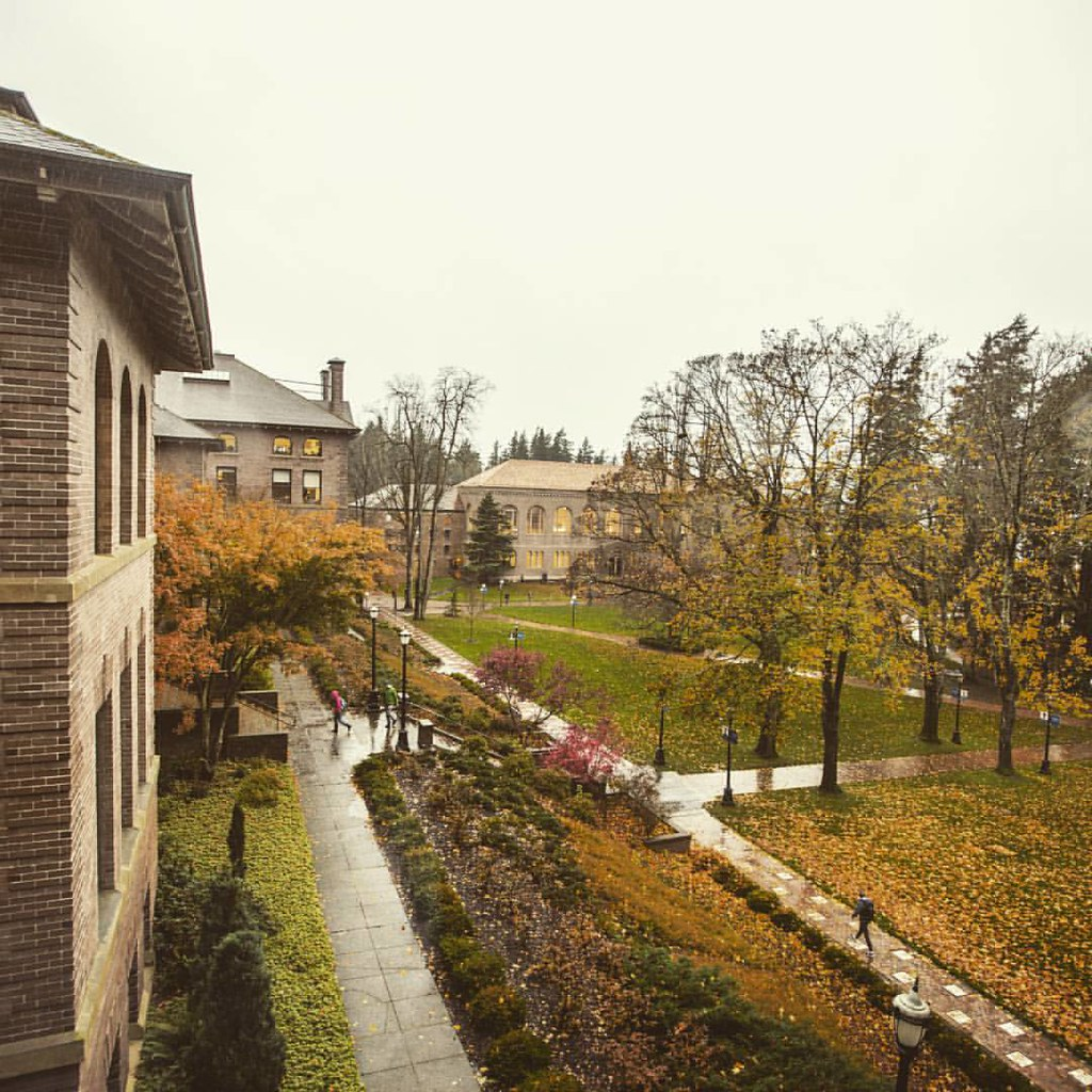 Thanksgiving break is just over a week away. Hang in there, Vikings.   #rain #bellingham #bellinghome #upperleftusa #fallatwestern