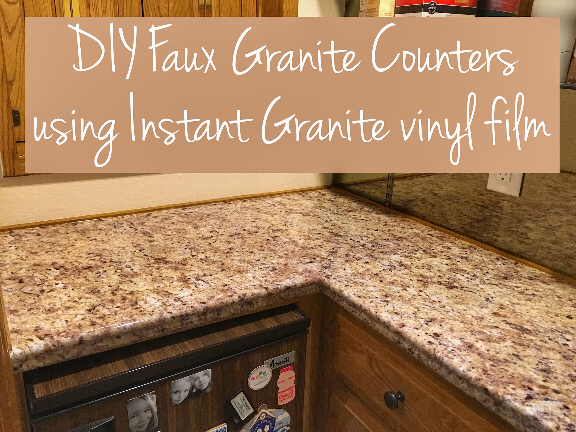 Instant Granite Samples : Transform your countertops with a diy fake granite counter