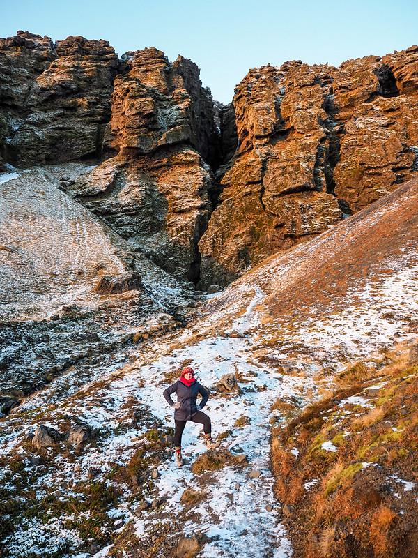 Rauðfeldsgjá gorge in Iceland