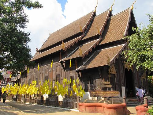 Chiang Mai: temple en tek Wat Phan Tao