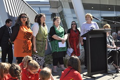 Deputy Mayor Vicki Buck and Ngā Manu Tioriori / Christchurch City Council's Waiata Group