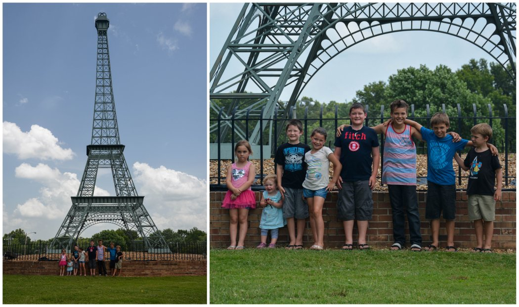 eiffel tower with cousins