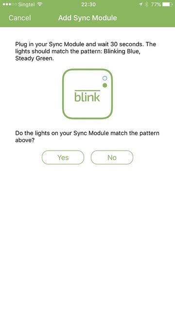 Blink iOS App - Blink Sync Module - Setup #4