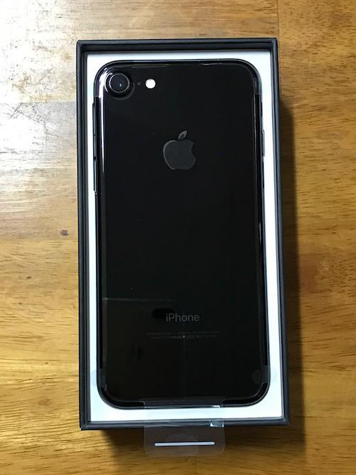 iPhone7のジェットブラック