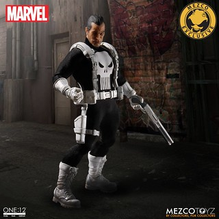 MEZCO – ONE:12 COLLECTIVE 系列【制裁者:法蘭克.卡索】MARVEL Classic Punisher 1/12 比例人偶作品