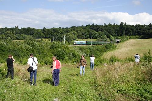 20080628 042 Vonêche. Enthusiasts Photograph PFT TSP Adieu Aux Locomotive Série 15. 1501 E18502 15.10 Florenville - Namur