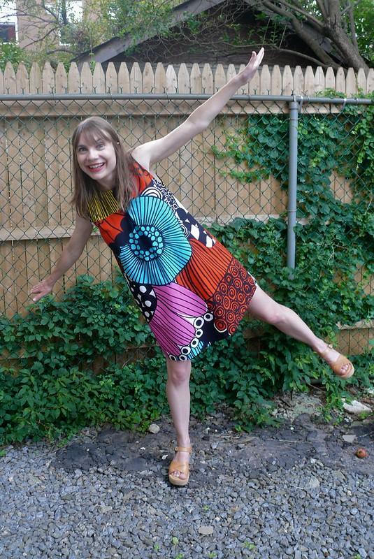 Pauline Alice Xerea Dress + Marimekko | Ginger Makes