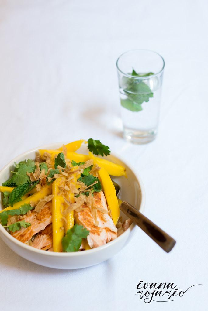 Ensalada Mango y Salmón