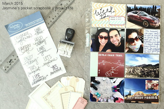 jasmine's pocket scrapbook // project life: march 2015