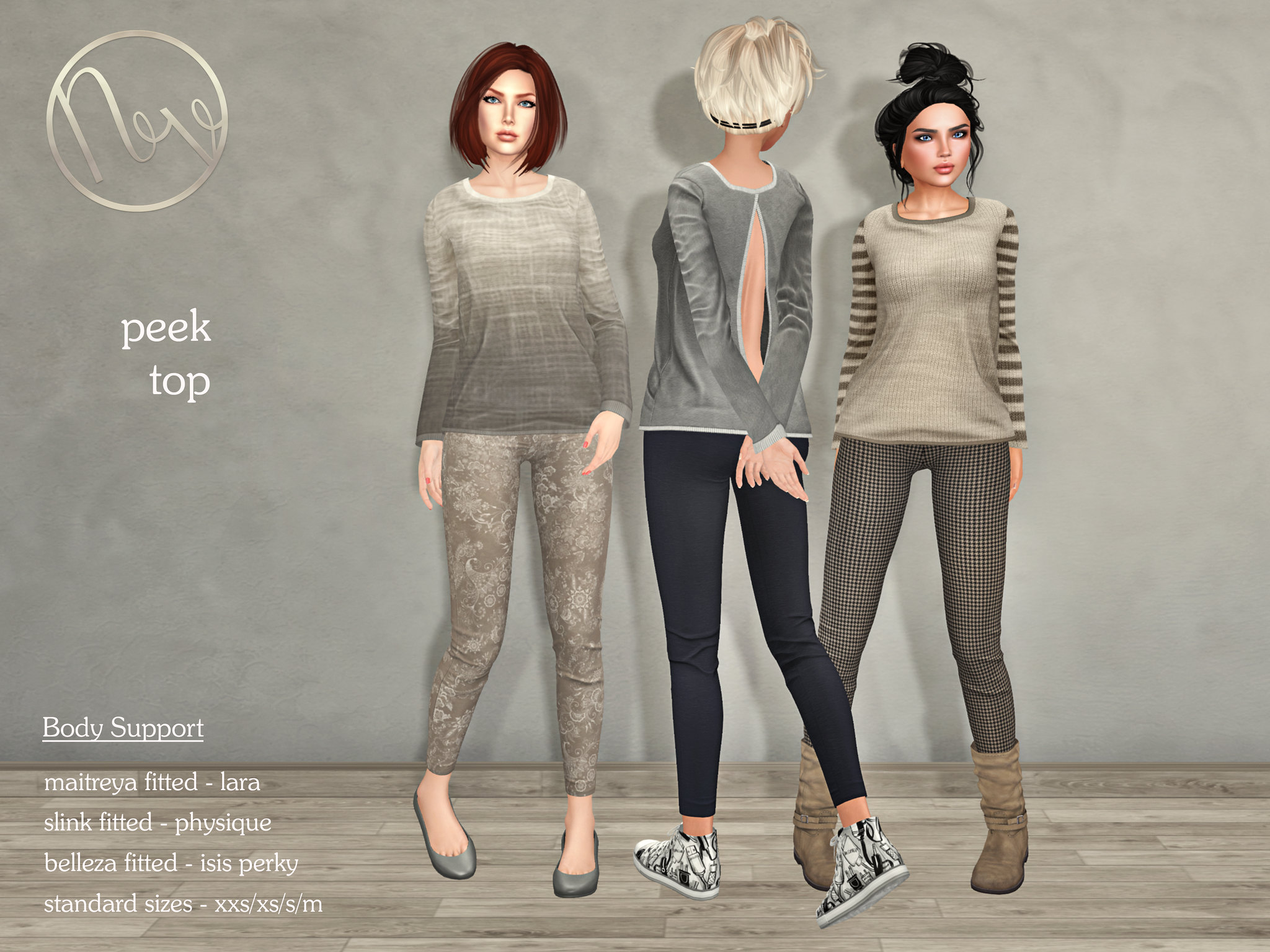Neve  peek top & zeezee leggings