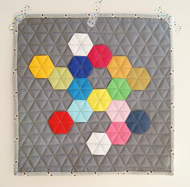 Solid Hexies Mini Quilt