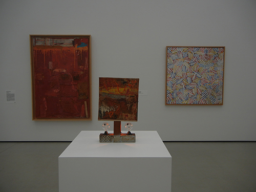 DSCN0326 _ Untitle, 1954, Combine, 1954, Rauschenberg, Untitled, 1975, Johns, Broad Museum, LA