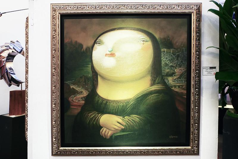 Manilart 2015 An homage to Leonardo da Vinci by Roel Obemio (Showcased by Galerie Francesca) After Mona Lisa
