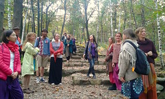 Part of the Aminè program is the visit to the Sacred Woods Temple