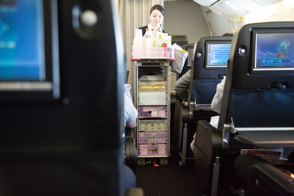 JAL JL043 Premium Economy #夢見た英国文化