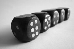 recreation(0.0), eight ball(0.0), indoor games and sports(1.0), sports(1.0), tabletop game(1.0), games(1.0), dice game(1.0), dice(1.0), monochrome(1.0), black-and-white(1.0), board game(1.0),