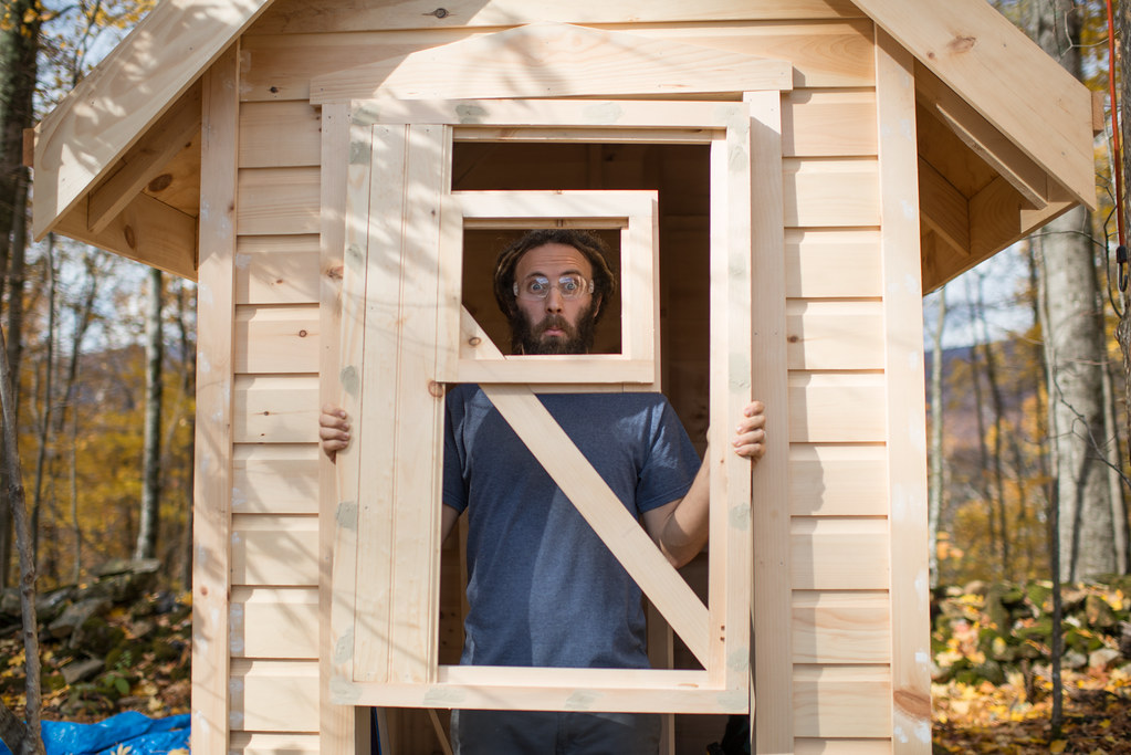 ... and Outhouse Door in Progress ...