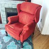 Welcome home, ridiculous orange wingback lion-footed recliner of my craigslist dreams. Also, incredibly comfy.