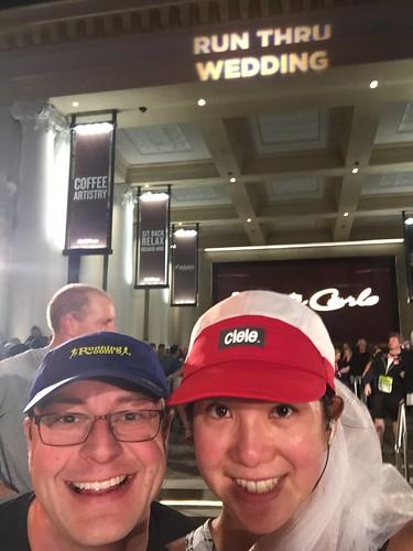 Mei and Dan's selfie at the Run Thru Wedding.