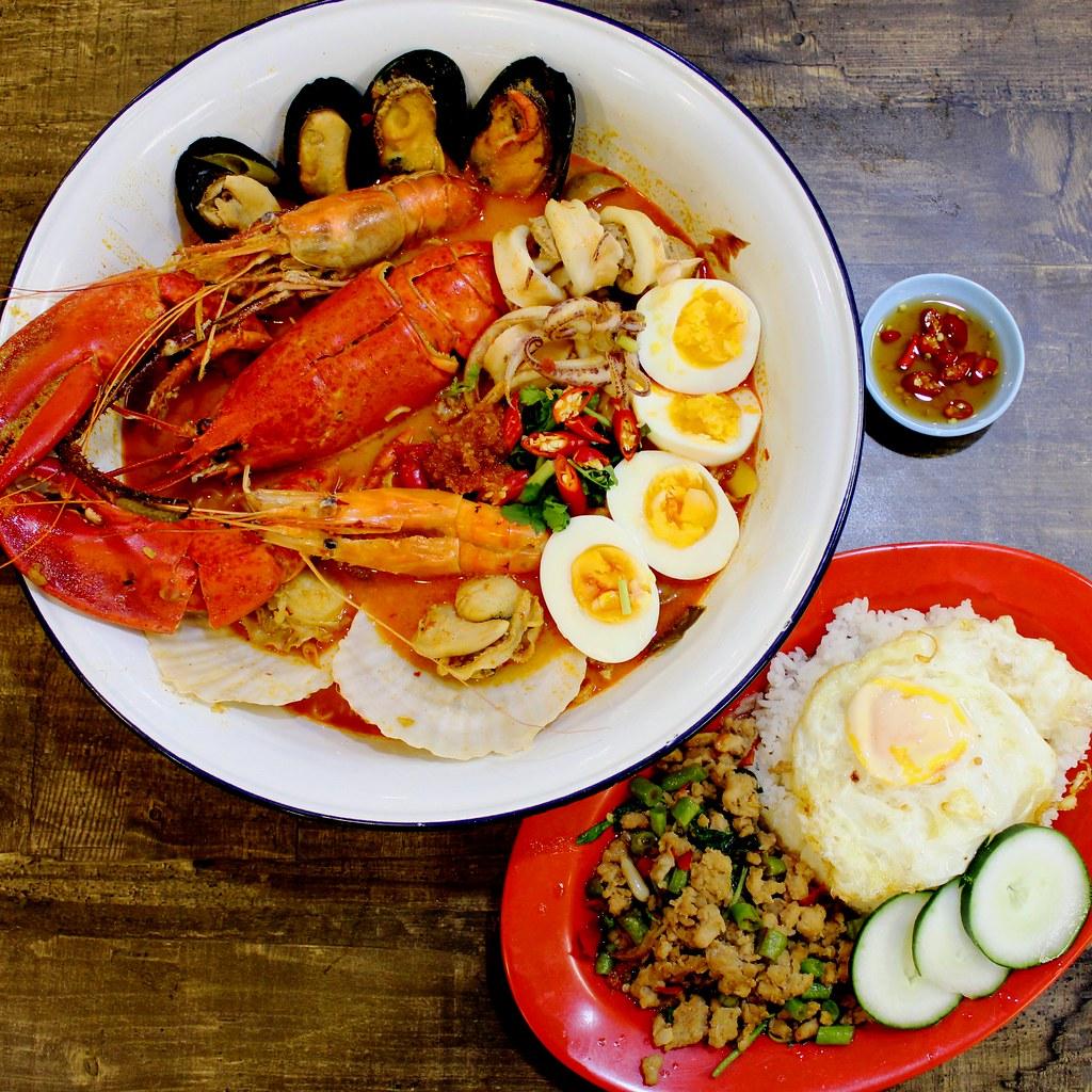 Abb Zabb: Tomyum Lobster And Thai Basil Minced Pork