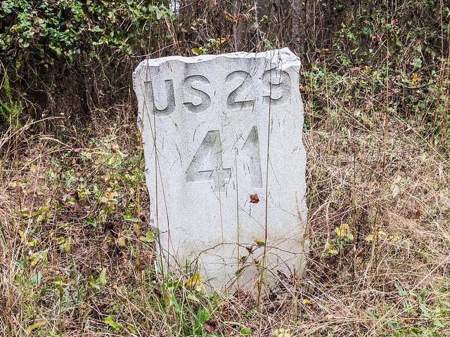 U.S. 29 milestone 41 - 1