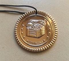 Pirate treasure medal