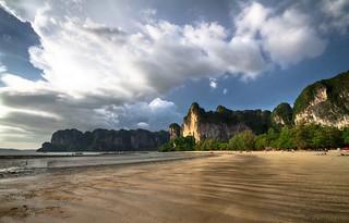 Stormy Day, Hard Rocks, Shimmery Beach