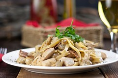 Chicken Pasta Meal on Table
