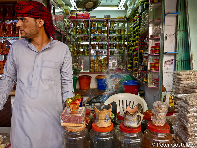Frankincense Seller in Salalah souq